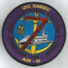 USS SUNBIRD ASR-15 CHALLENGER SALVAGE & RECOVERY STS-51L MILITARY PATCH 1986 MEM