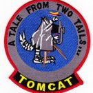 United States NAVY F-14 TOMCAT MILITARY PATCH A TALE FROM TWO TAILS...