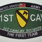 """US ARMY 1st CAVALRY DIVISION """"FIRST TEAM"""" MILITARY PATCH"""