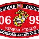 "USMC ""COMMUNICATIONS CHIEF"" 0699 SEMPER FIDELIS MILITARY MOS PATCH"