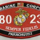 "USMC ""PARACHUTIST"" 8023 MOS MILITARY PATCH SEMPER FIDELIS MARINE CORPS"