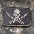 PIRATE SKULL FLAG ACU LIGHT COMBAT TACTICAL BADGE MORALE VELCRO MILITARY PATCH