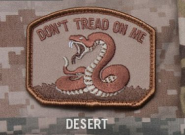 DON'T TREAD ON ME - DESERT - TACTICAL COMBAT BADGE MORALE VELCRO MILITARY PATCH