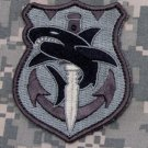 TACTICAL SHARK ACU TACTICAL COMBAT ISAF OIF BADGE MORALE VELCRO MILITARY PATCH
