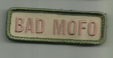 BAD MOFO MULTICAM COMBAT TACTICAL BADGE OIF OEF MORALE VELCRO MILITARY PATCH