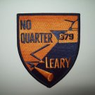 US NAVY DD-879 USS LEARY Gearing-Class Destroyer Military Patch - NO QUARTER