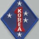 USMC - 1st MARINE DIVISION KOREA -  MILITARY PATCH - FIRST MARINE - MARINE CORPS