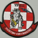 US NAVY FIGHTER SQUADRON VF 211 FIGHTING CHECKMATES MILITARY PATCH - TOMCAT F14