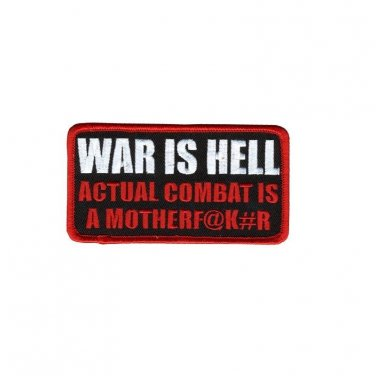 WAR IS HELL MOTORCYCLE JACKET LEATHER VEST MORALE BIKER MILITARY PATCH