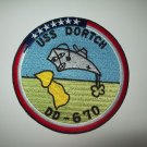 US NAVY - USS DORTCH ( DD-670 ) FLETCHER-CLASS DESTROYER MILITARY PATCH