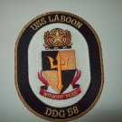 DDG-58 USS LABOON Guided Missile Destroyer Military Patch WITHOUT FEAR
