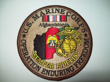 US MARINE CORPS - OPERATION ENDURING FREEDOM - SEMPER FIDELIS - MILITARY PATCH