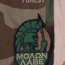 MOLON LABE SPARTAN FOREST TACTICAL COMBAT BADGE MORALE VELCRO MILITARY PATCH