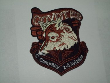 C CO 2-4 COYOTES Military Patch Army Aviation Insignia