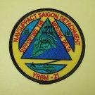 BROWN WATER SAILOR - YRBM 21 - NAVSUPPACT SAIGON DETACHMENT MILITARY PATCH