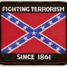 FIGHTING TERROR SINCE 1861 REBEL FLAG MOTORCYCLEBIKER JACKET VEST MILITARY PATCH