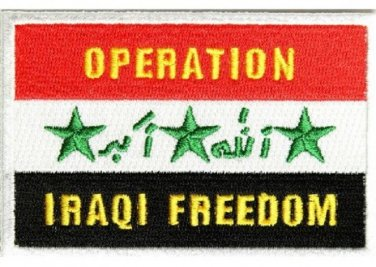 OPERATION IRAQI FREEDOM MOTORCYCLE BIKER JACKET VEST MORALE MILITARY PATCH