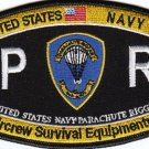 NAVY Aircrew Survival Equipmentman Parachute Rigger Rating Military Patch PR (b)