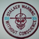 "326 ""STALKER WARNING"" VELCRO MILITARY PATCH"