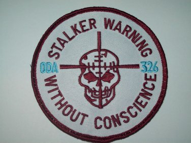 """326 """"STALKER WARNING"""" VELCRO MILITARY PATCH"""