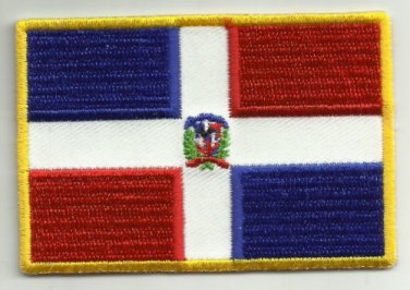 DOMINICAN REPUBLIC FLAG Motorcycle Biker Patch