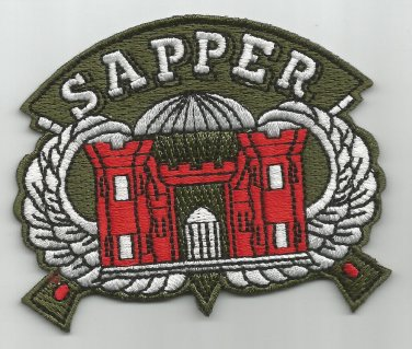 SAPPER MILITARY PATCH - COMBAT ENGINEER