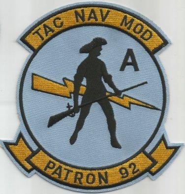 AVIATION PATROL VP-92 TAC NAV MOD - Patron Nine Two - Military Patch