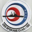 USS SPOKANE CL-CLAA-120 JUNEUA CLASS LIGHT CRUISER MILITARY PATCH