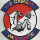 1st Battalion 4th Cavalry Regiment Military Patch DARKHORSE