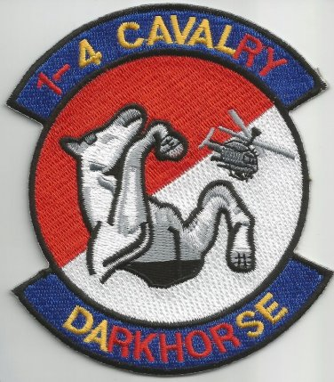 1st Battalion 4th Cavalry Regiment Military Patch DARKHORSE