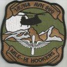 1st Detachment E Co 168th Aviation Regiment Military Patch MILE-HI HOOKERS