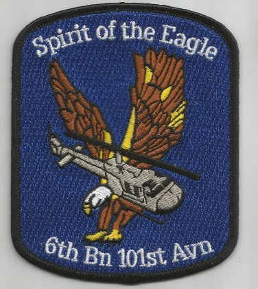 6th Battalion 101st Aviation Regiment General Support Military Patch SPIRIT OF EAGLE