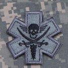 PIRATE Combat Medic Badge Velcro Military Morale Patch - ACU DARK