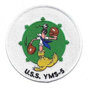 USS YMS-5 Mine Sweeper Military Patch (Disney WWII)