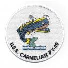 USS Carnelian PY-19 Navy Patrol Yacht Military Patch