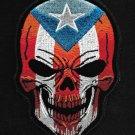Puerto Rican Death Skull PR Flag of Puerto Rico Motorcycle Biker vest Patch