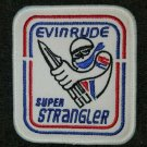 EVINRUDE RACING PATCH VTG RED WHITE BLUE MARINE BOAT sew on
