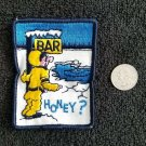 Vintage 1970s BAR HONEY? Snowmobile Racing Jacket patch NOS sew on