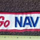 Vintage  Red White & Navy Blue United States GO NAVY Patch