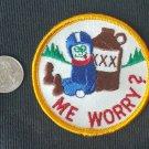 Vintage 1970s racing ME WORRY jacket vest HOTROD ratfink sew on patch