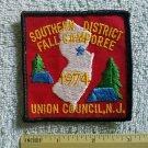 1974 UNION COUNCIL NJ. Camporee Boy Cub Scout Patch CSP Camp