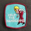 vintage 70s HELP THE HANDICAPPED  funny RACING ratfink hot rod jacket PATCH