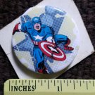 Captain America Pin-back Button Vintage MARVEL SUPER HERO collectors pin
