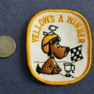 Vintage 1970s racing YELLOW IS THE WINNER HOTROD ratfink sew on patch
