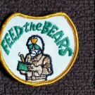 Vintage 70s Truckers lingo CB radio FEED THE BEARS  funny collectors PATCH