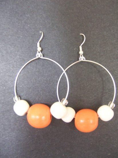 Orange Hoops - SOLD