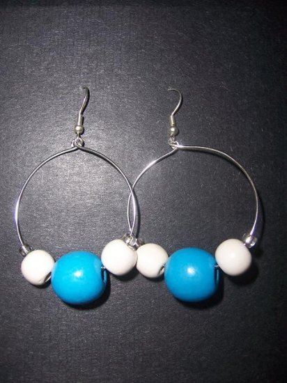 Blue Hoops - SOLD