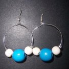 Blue Hoops - SOLD