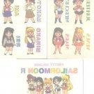 Sailor Moon R Irezumi Seal Tattoo Cards - Group Lot