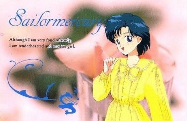 Sailor Moon S Charamide 2 Regular Card Ami Mercury